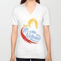 fullmetal V-neck T-shirts featuring Minimal Edward  by jpmdesign