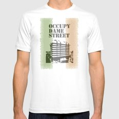 Occupy Dame Street MEDIUM White Mens Fitted Tee