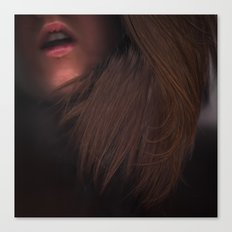 I Sigh Your Name Alone In The Dark Canvas Print