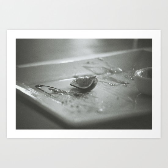 End of a fine degustation Art Print