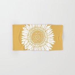 Yellow Sunflower Drawing Hand & Bath Towel