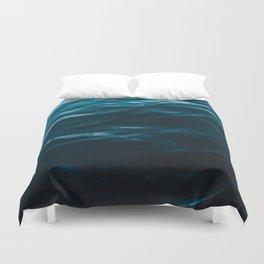 Minimalist blue water surface texture - oceanscape Duvet Cover