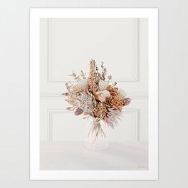 Ornament Flowers (Autumn) Art Print