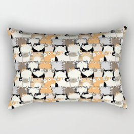 Staring Cats Rectangular Pillow