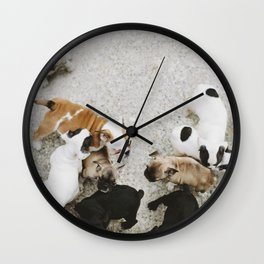 Oh puppy dogs Wall Clock