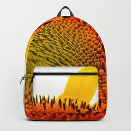Bee Feasting on Sunflower Backpack