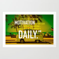 Typographic Quote Design  [Zig Ziglar] Art Print