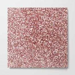 Pixel Hash / Digital Mince / Cubistic Hamburger Meat Metal Print