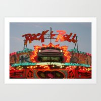 rock and roll Art Prints featuring Rock & Roll by Paul Hopkins