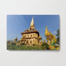 Wat Chalong Thai Temple Phuket Thailand Metal Print