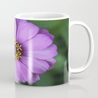 rileigh smirl Mugs featuring Purple Flower by Rileigh Smirl