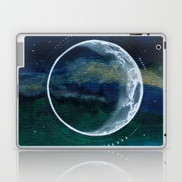 Crescent Moon Mixed Media Painting Laptop & iPad Skin