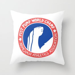 Fist Pump World Champ Throw Pillow