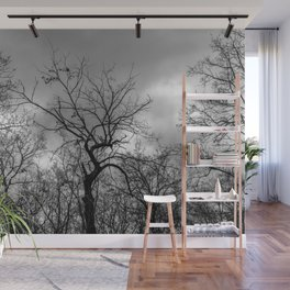Witchy black and white tree Wall Mural