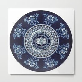 Hand Batik Cotton Round Table Cloth Beach Tapestries - See more at: http://www.handicrunch.com/en/pr Metal Print