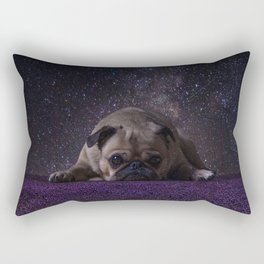 Flower Field Pug Rectangular Pillow