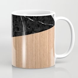 Marble, Garnite, Teak Wood Abstract Coffee Mug