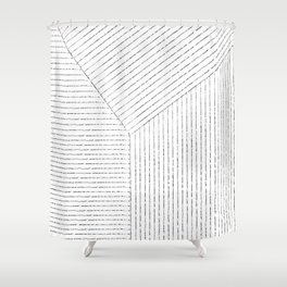 Lines Art Shower Curtain