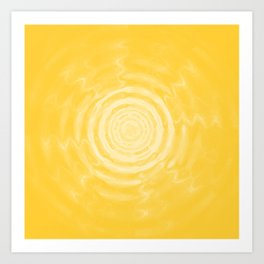 Ripples_Yellow Art Print