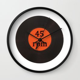 Vinyl record vintage 45 rpm 7 inch single Wall Clock