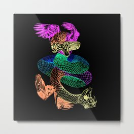 Feathered Serpent Metal Print