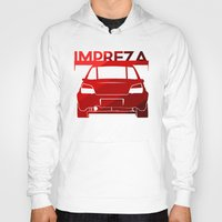 subaru Hoodies featuring Subaru Impreza - classic red - by Vehicle
