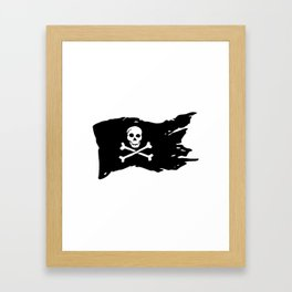 Pirate Flag Framed Art Print