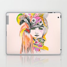 Pink Leaves Laptop & iPad Skin