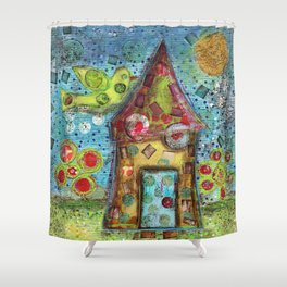 Bird of Hope by Flor Larios Shower Curtain