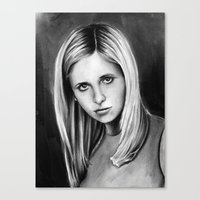 buffy Canvas Prints featuring buffy by dollface87