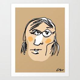 Blindfolded Portrait #3 Art Print