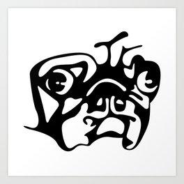 Pug Mug Art Print