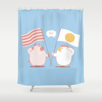 breakfast Shower Curtains featuring breakfast by gotoup