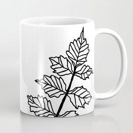 Ferns-Black and White Coffee Mug