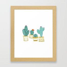 Cactus Garden || #society6artprint #decor Framed Art Print