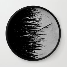 Concrete Fringe Black on Side Wall Clock
