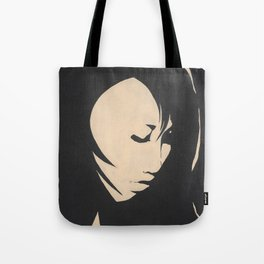 Whale-eyed Girl Tote Bag