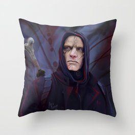 Mr. Quinlan | Bloody Invictus Throw Pillow