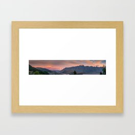 Queenstown Sunset Framed Art Print