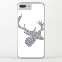 Silver Deer Clear iPhone Case