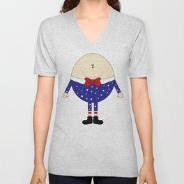 Humpty Dumpty  Unisex V-Neck