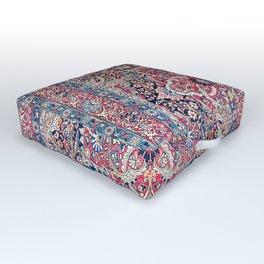 Kashan Central Persian Rug Print Outdoor Floor Cushion