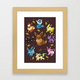 Eeveelutions v2 Framed Art Print