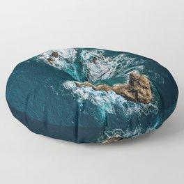 Sea Smile - Ocean Photography Floor Pillow