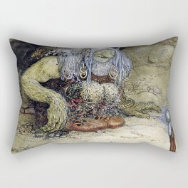 """The Boy Who Was Never Afraid"" by John Bauer Rectangular Pillow"