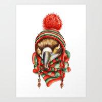 hawk Art Prints featuring Hawk by Julia Badeeva