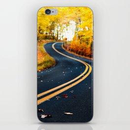 road in autumn iPhone Skin