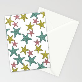 starfish tropical print Stationery Cards