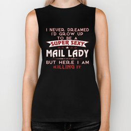 Super sexy mail lady Biker Tank