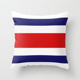costa rica flag Throw Pillow